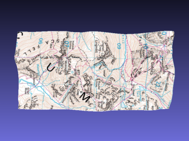 Scafell Pike - Map 3d printed Surface of Scafell Pike - Map model