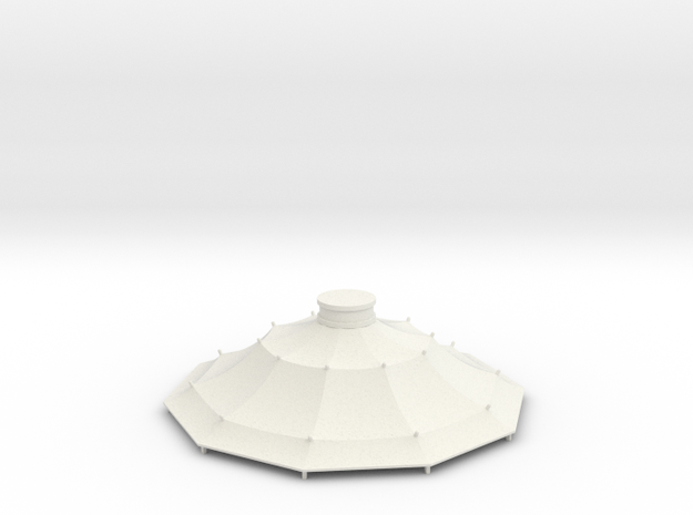 Austauschdach IHC-Carousel 2 für 1:87 (H0 scale) in White Strong & Flexible