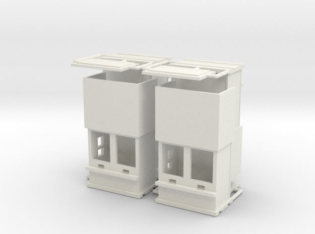 """carnival """"4 ticketboxes""""  1:87 (H0 scale) in White Natural Versatile Plastic"""