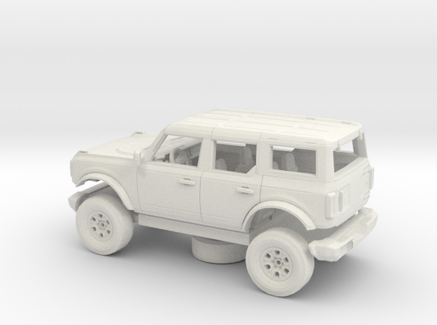 1/72 2021 Ford Bronco 4 Door Kit in White Natural Versatile Plastic