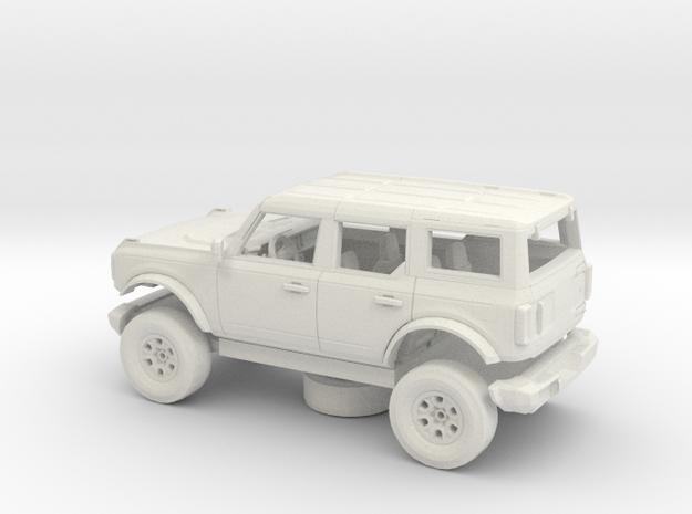 1/72 2021 Ford Bronco 4 Door Kit in White Natural Versatile Plastic
