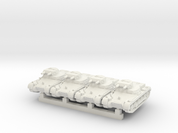 1/160 PzKpfW-I B in White Natural Versatile Plastic