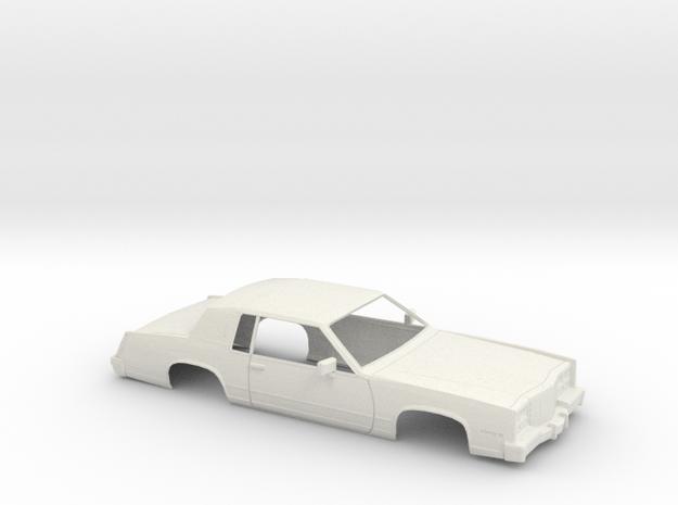1/18 1983 Cadillac Eldorado Shell in White Natural Versatile Plastic