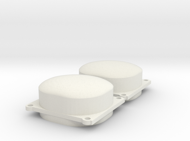 Walthers E Unit Dual Tang Band Speaker Set in White Natural Versatile Plastic