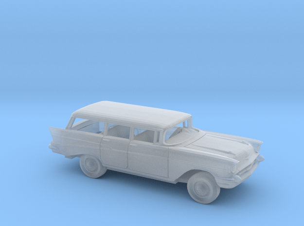 1/87 1957 Chevrolet Bel Air Station Wagon Kit in Smooth Fine Detail Plastic