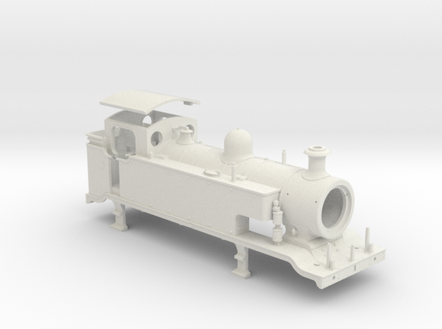 HO Scale LBSCR E2 (Extended Tank) in White Natural Versatile Plastic