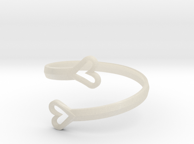 FLYHIGH: Open Hearts Bracelet 3d printed