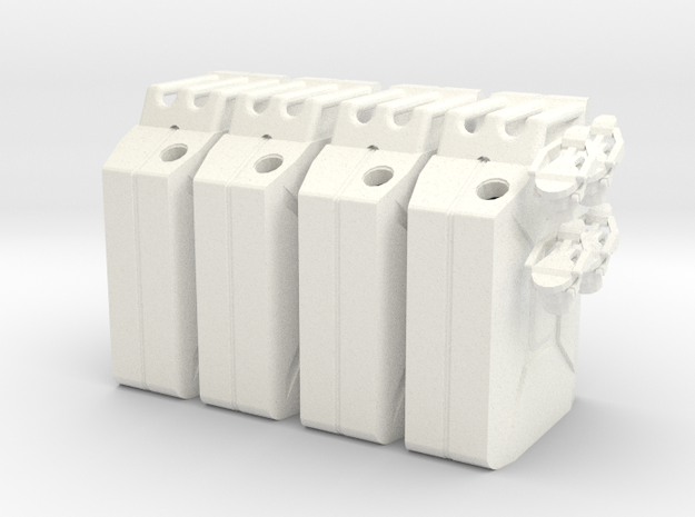 NATO 20L Gas Can 1/10 Scale X4 in White Processed Versatile Plastic
