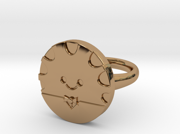Peppermint Butler Ring (Small) in Polished Brass
