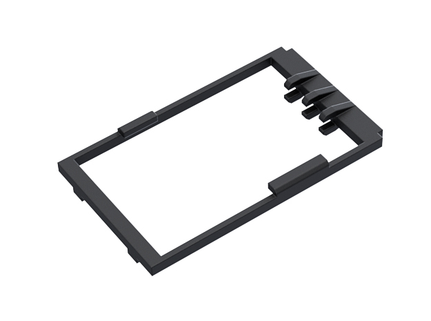 Revanted chassis Verso Holder in Black Natural Versatile Plastic