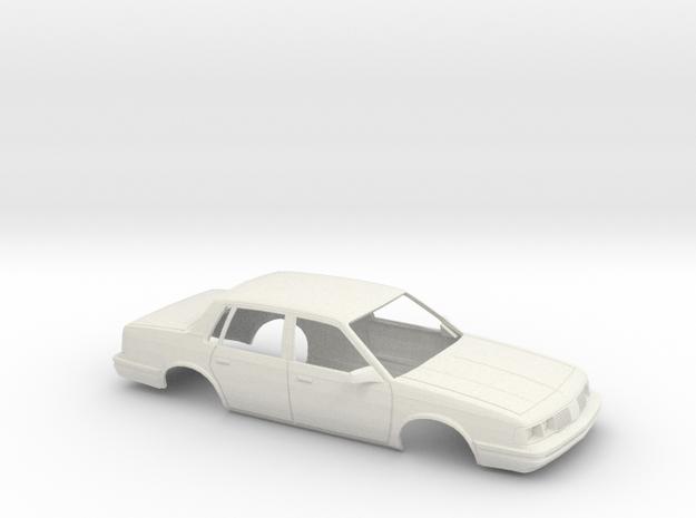 1/24 1987 Oldsmobile Cutlass Ciera Sedan Shell in White Natural Versatile Plastic
