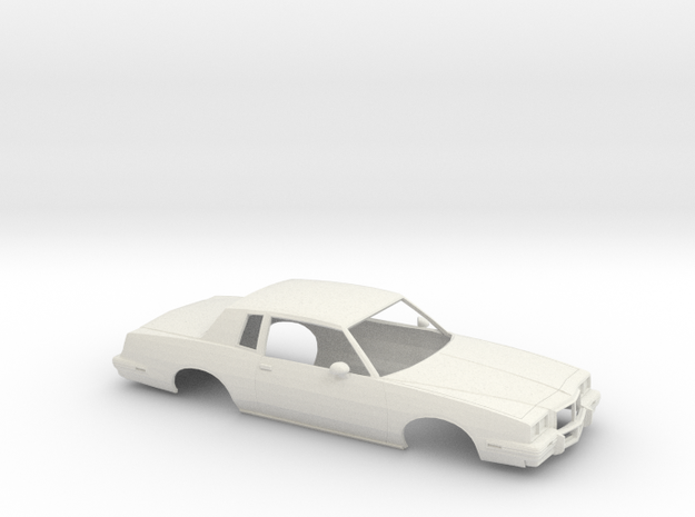 1/24 1985 Pontiac Grand Prix Shell in White Natural Versatile Plastic