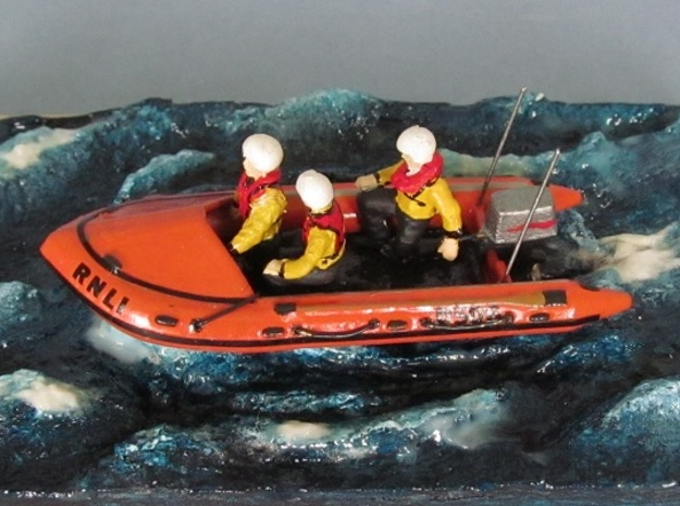 D Class Lifeboat in Smooth Fine Detail Plastic