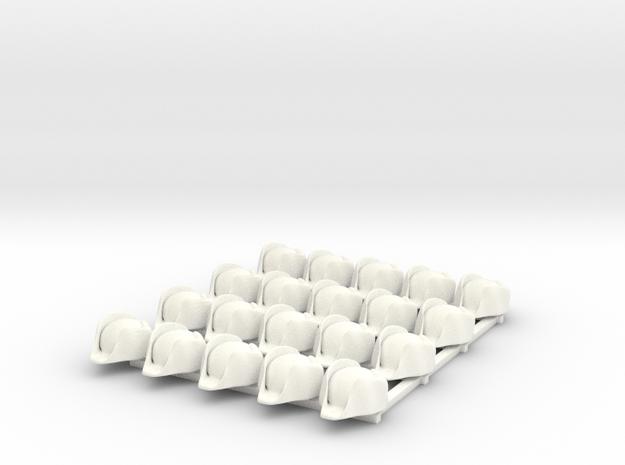 20 x British Navy Bicorn in White Processed Versatile Plastic