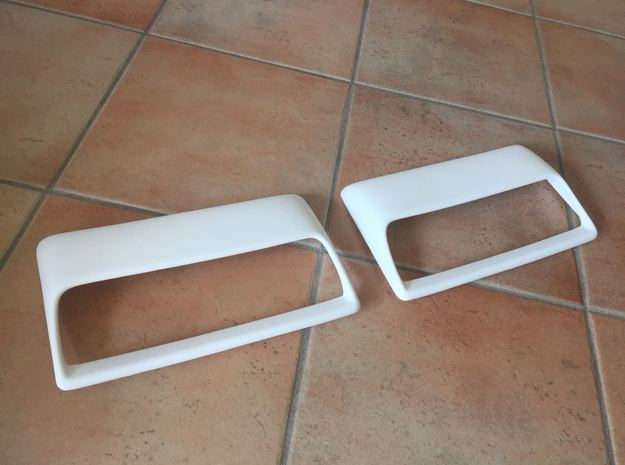 Lancia Delta 4WD bonnet scoop - Right in White Natural Versatile Plastic