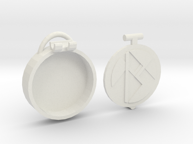Basic Locket m2 in White Natural Versatile Plastic