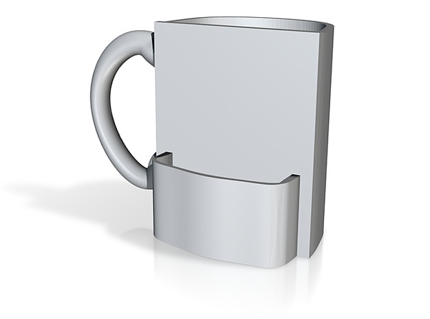 Half Mug with Holder 3d printed