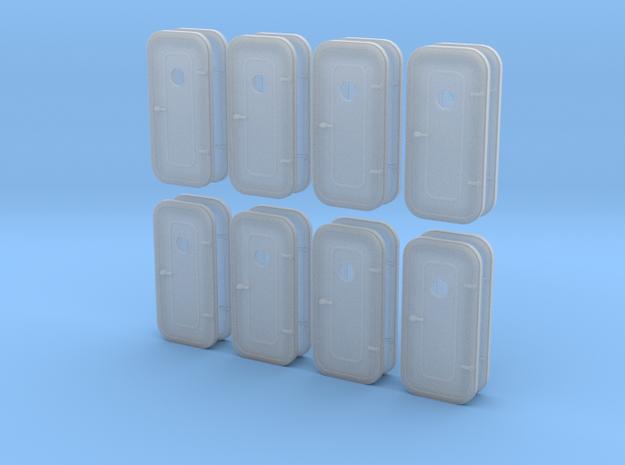 1:48 RH Waterproof Door - with porthole - 16ea in Smooth Fine Detail Plastic