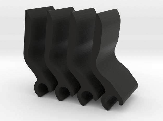 Volvo rear Sun Shade clip - Set of 4 in Black Strong & Flexible