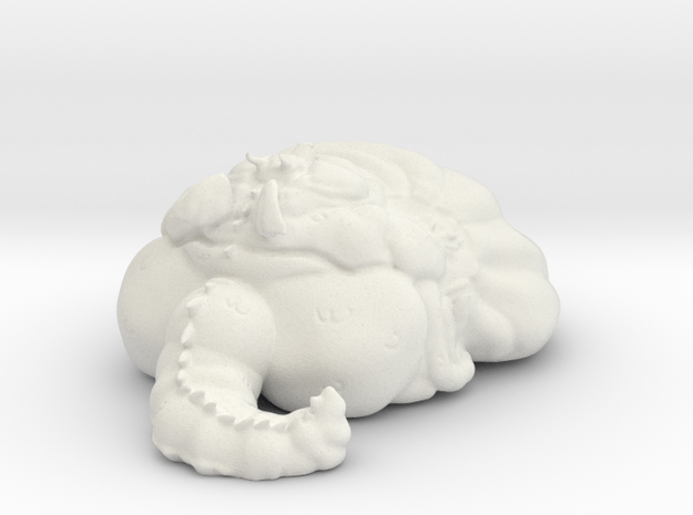 Dragon Blob in White Natural Versatile Plastic