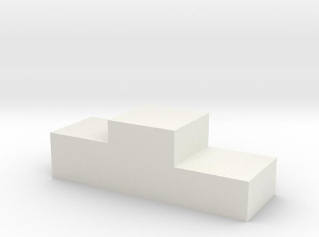 Podium in White Natural Versatile Plastic: 1:18