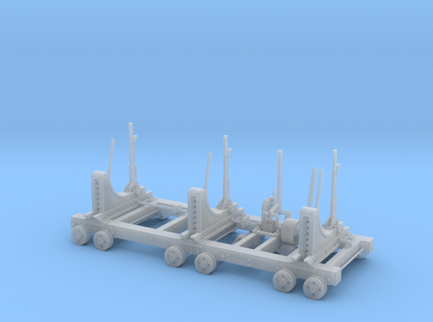 Heavy Lumber Mill Saw Carriage in Smooth Fine Detail Plastic
