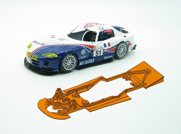 PSFY01601 Chassis for Fly Chrysler Viper GTS-R in White Natural Versatile Plastic