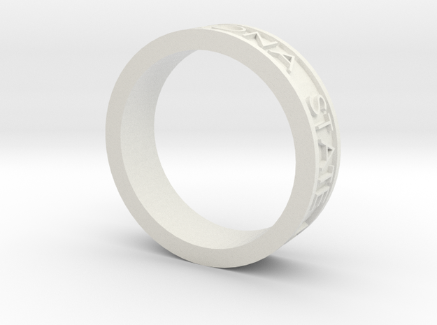 Basic Ring Size 11 ASU 2011 in White Strong & Flexible