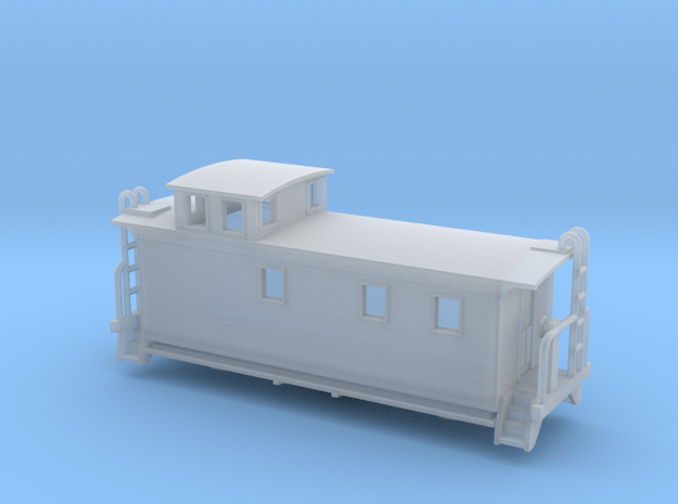 FW&D Woodside Caboose - Nscale in Smooth Fine Detail Plastic