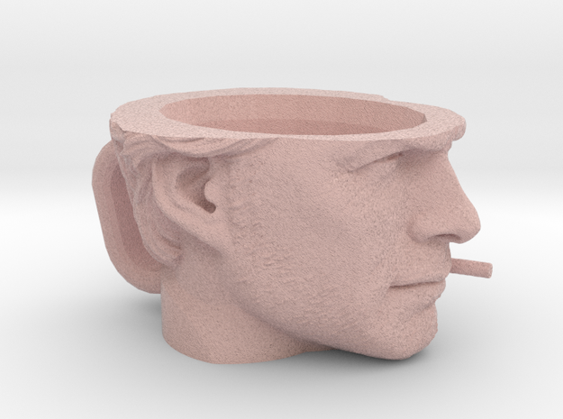 Clint Eastwood Cup in Natural Full Color Sandstone