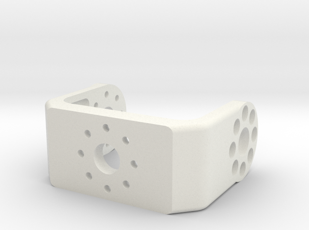 3D printed bracket for the Dynamixel MX-28 servo  in White Natural Versatile Plastic