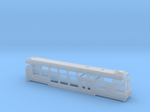 RhB BDt 1751-1758 in Smooth Fine Detail Plastic: 1:150