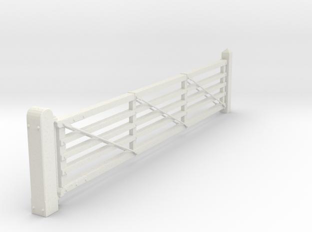 VR 20' #1 Gate 1:19 Scale in White Natural Versatile Plastic