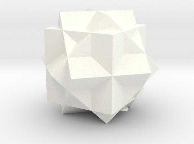 THREE CUBE COMP in White Processed Versatile Plastic