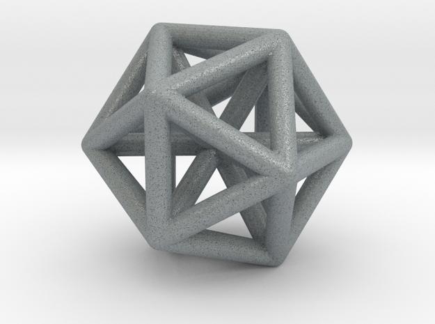 Triacontahedron 3d printed