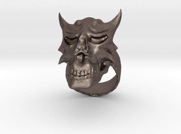 Demon Skull Ring 3d printed Description