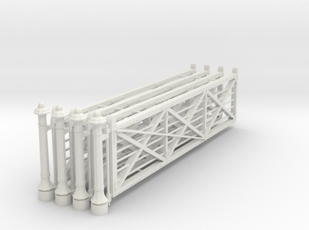 VR 20' #2 Gate 4 Pack 1-19 Scale in White Natural Versatile Plastic