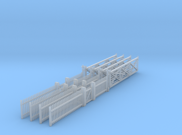 VR Gate Set #1 1:87 Scale in Smooth Fine Detail Plastic