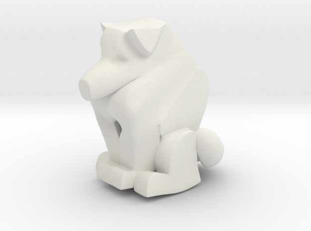 Cat Dog Totem in White Natural Versatile Plastic