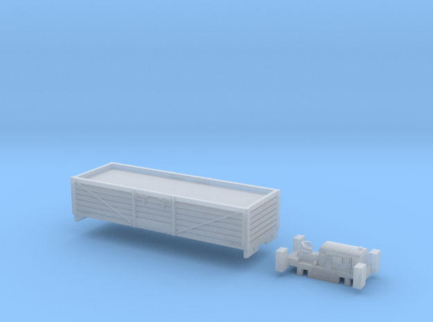 N Gauge Rail Tractor and Truck (Motorised) in Smooth Fine Detail Plastic