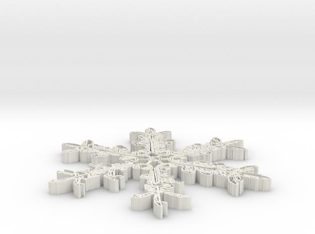 snowflake-v3-1.stl 3d printed