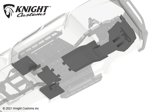 KCKR1012 Knightrunner lowered chassis armor Set in Gray PA12