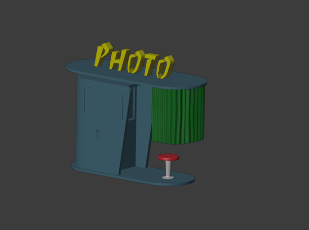 1/60 photo booth / photomaton n°1 in Smooth Fine Detail Plastic
