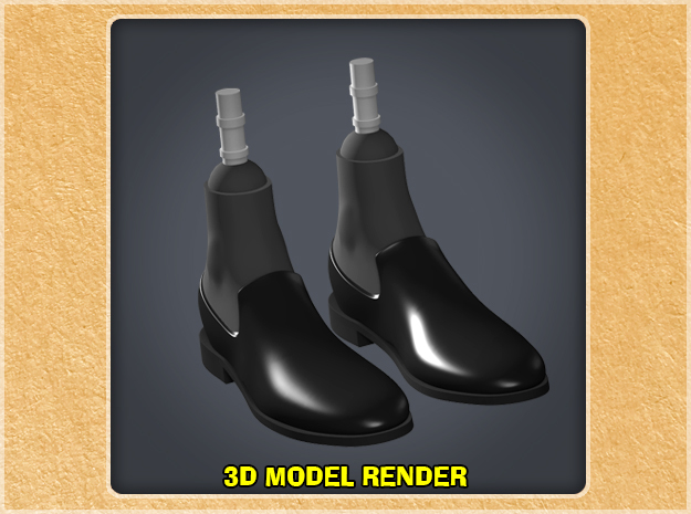 1:9 Scale Loafers in White Processed Versatile Plastic
