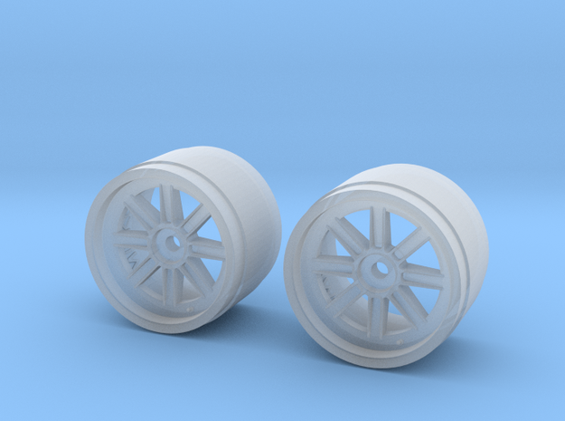 1/20 Penske PC21 front wheels in Smooth Fine Detail Plastic