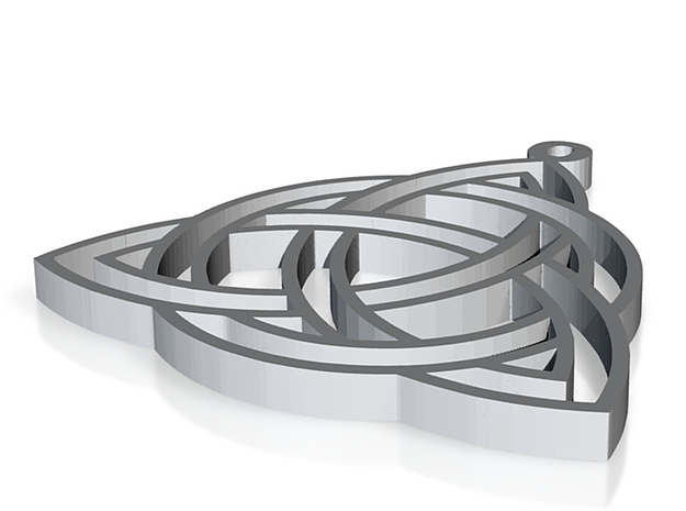 Another triquetra pendant 3d printed