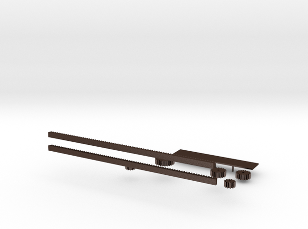 Rack and pinion 3d printed