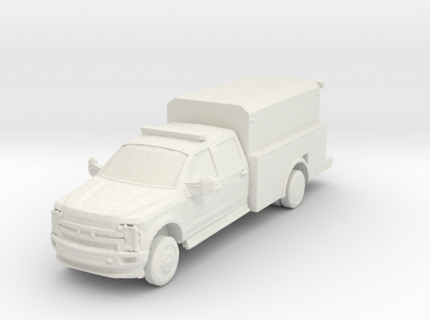 Ford F-550 Utility 1/64 in White Natural Versatile Plastic