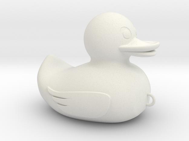 Duck Fishing Bait in White Natural Versatile Plastic