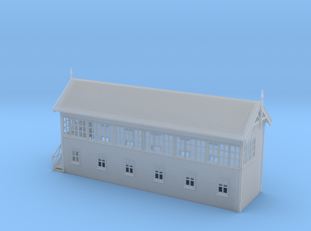 VR Signal Box #4 [Left Stairs] 1:160 Scale in Smooth Fine Detail Plastic